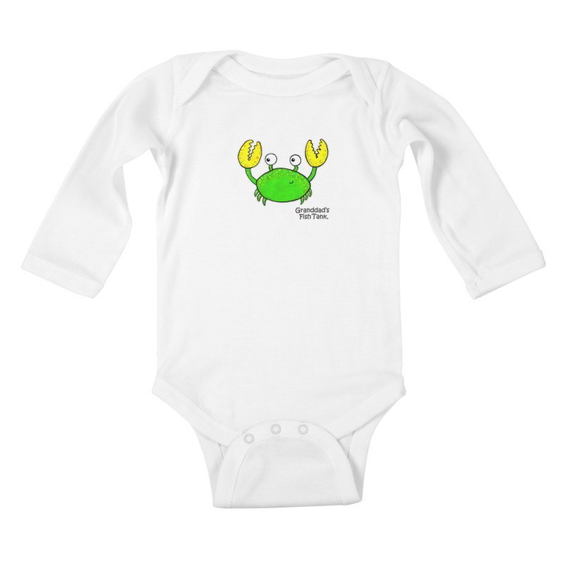 Granddad's Fish Tank - Crab Called Chuckles Kids Baby Longsleeve Bodysuit by The Art of Adz
