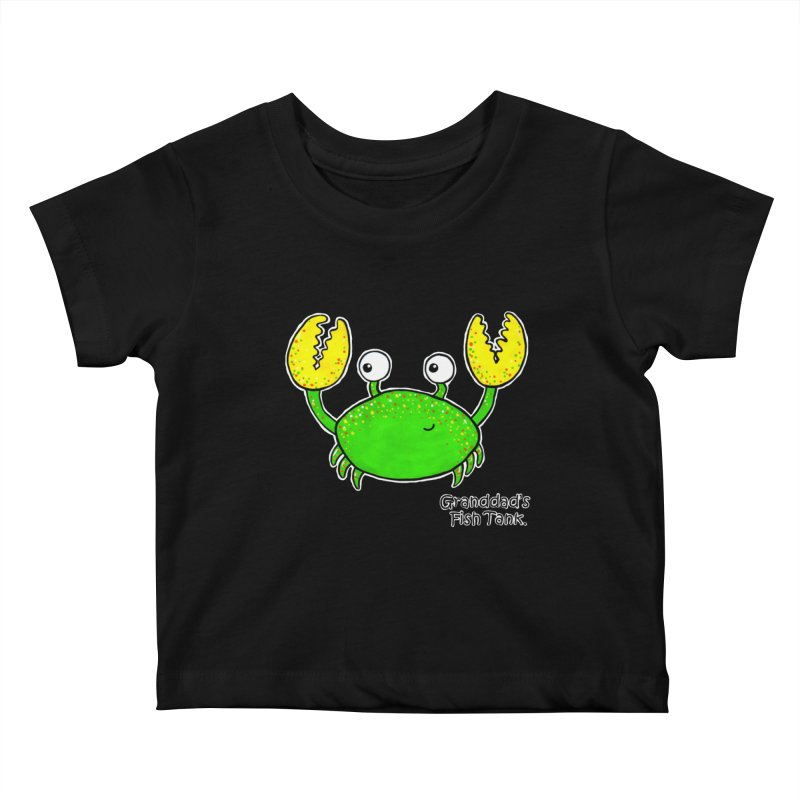 Granddad's Fish Tank - Crab Called Chuckles Kids Baby T-Shirt by The Art of Adz