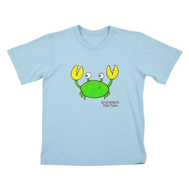 Granddad's Fish Tank - Crab Called Chuckles Kids T-Shirt by The Art of Adz