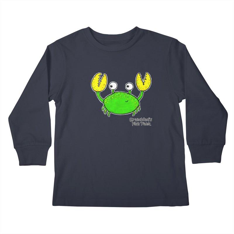 Granddad's Fish Tank - Crab Called Chuckles Kids Longsleeve T-Shirt by The Art of Adz