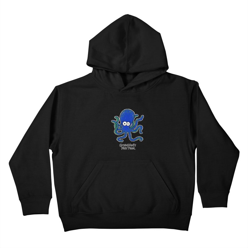 Granddad's Fish Tank - Squiggles The Octopus Kids Pullover Hoody by The Art of Adz