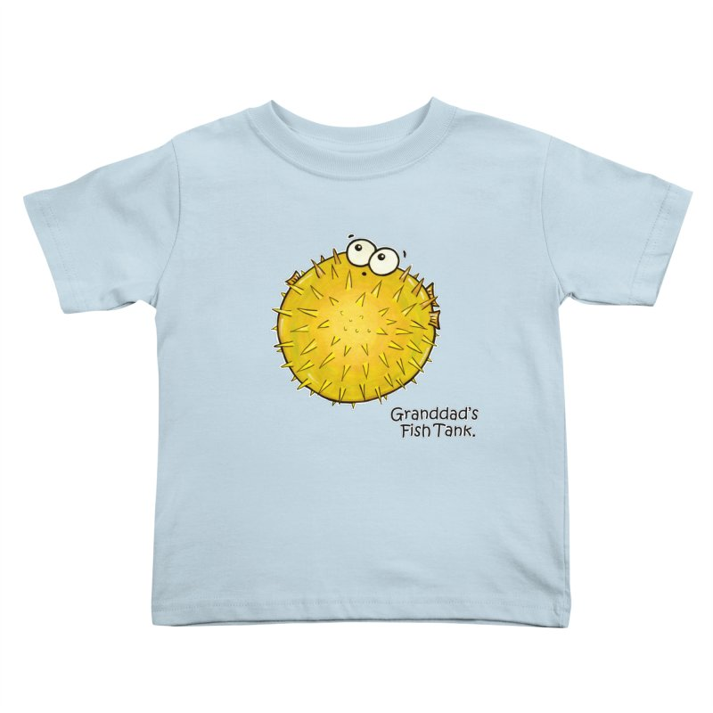 Granddad's Fish Tank - Barry the Blowfish Kids Toddler T-Shirt by The Art of Adz
