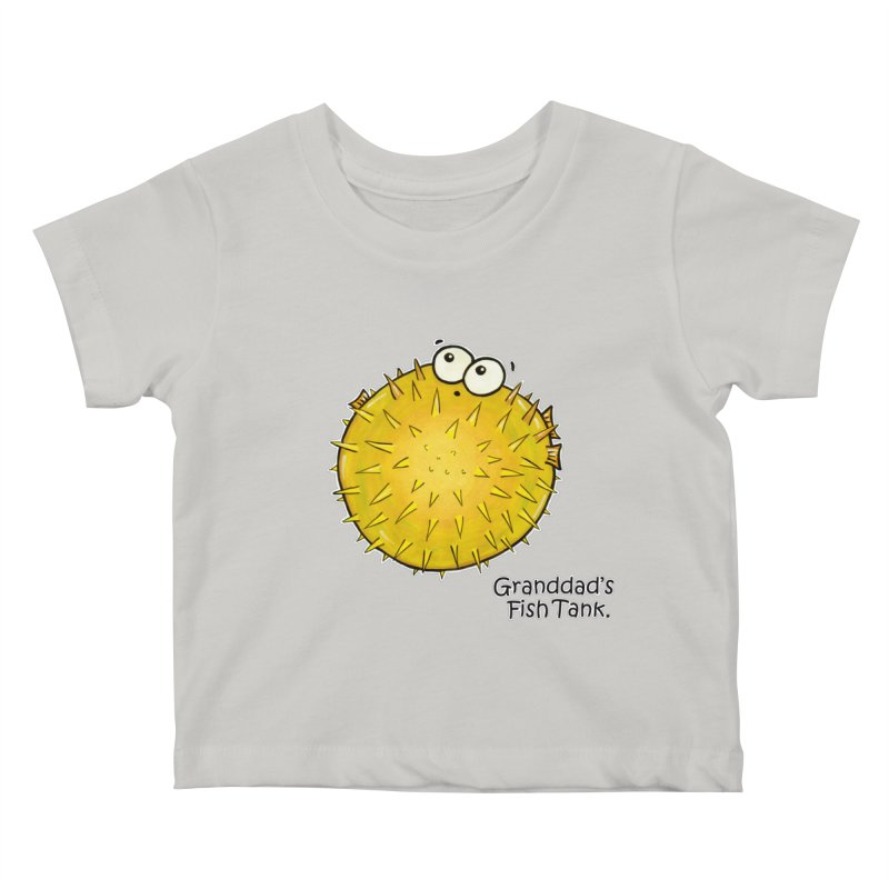 Granddad's Fish Tank - Barry the Blowfish Kids Baby T-Shirt by The Art of Adz