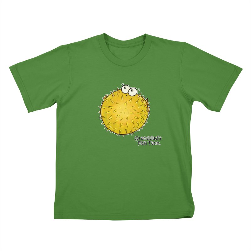 Granddad's Fish Tank - Barry the Blowfish Kids T-shirt by The Art of Adz