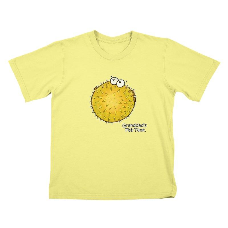 Granddad's Fish Tank - Barry the Blowfish Kids T-shirt by The Art of Adz