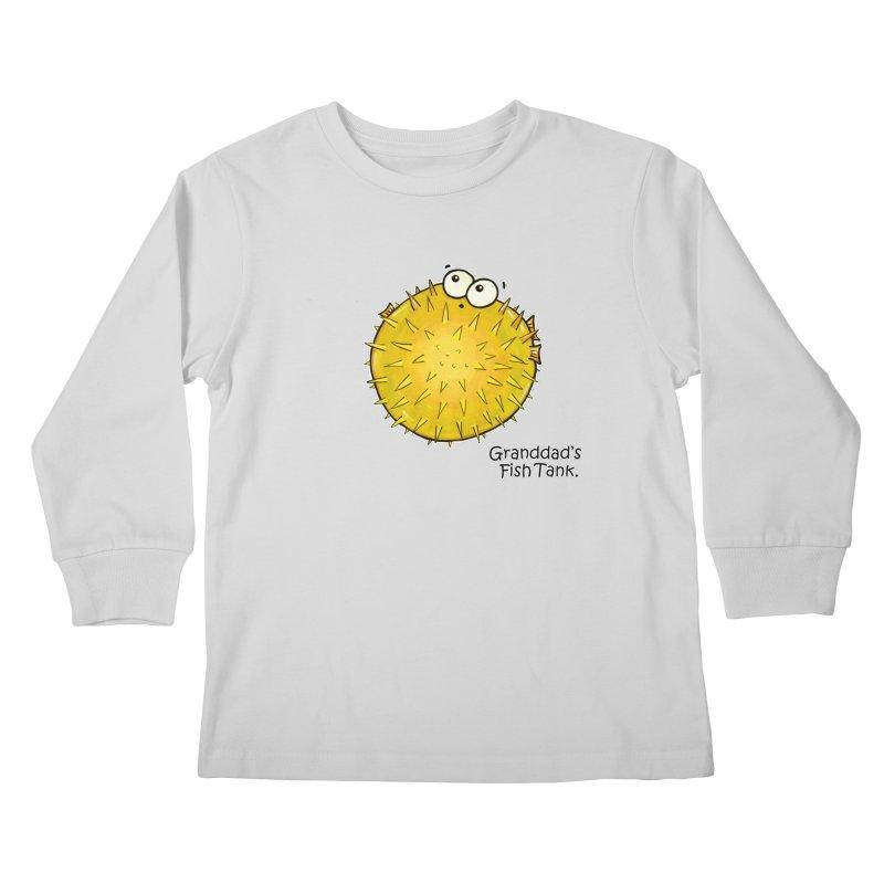 Granddad's Fish Tank - Barry the Blowfish Kids Longsleeve T-Shirt by The Art of Adz