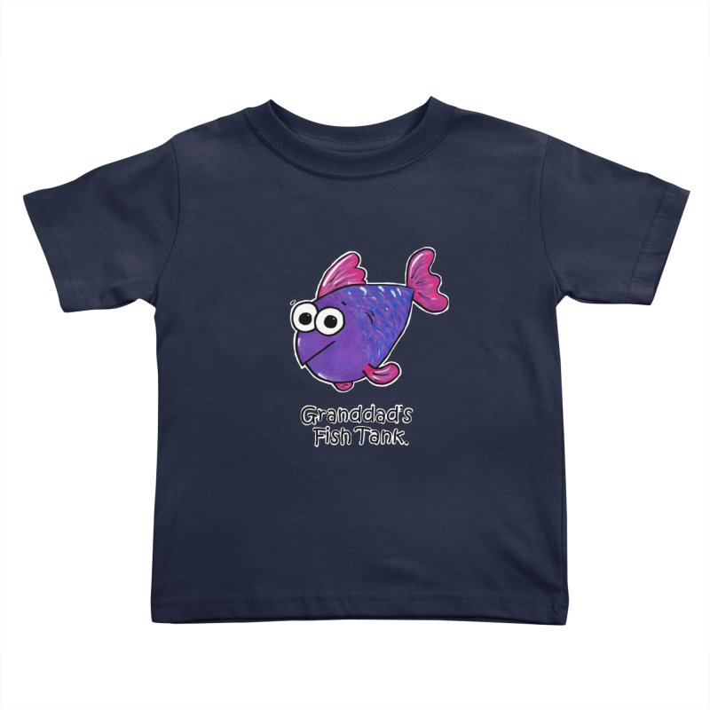 Granddad's Fish Tank - Freddy's Friend Kids Toddler T-Shirt by The Art of Adz
