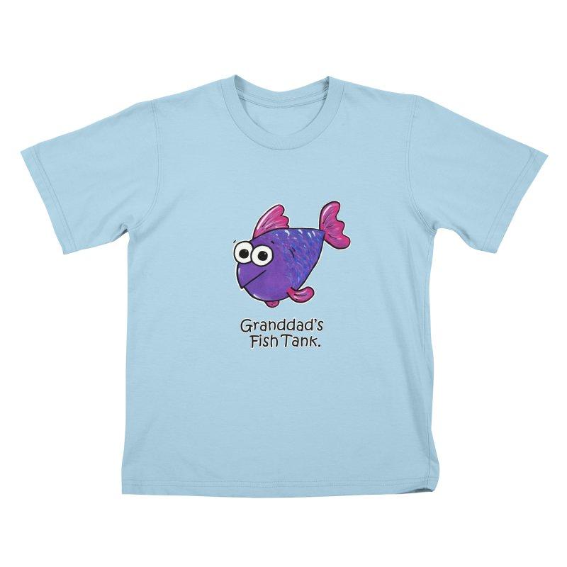 Granddad's Fish Tank - Freddy's Friend Kids T-shirt by The Art of Adz
