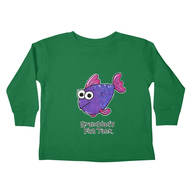 Granddad's Fish Tank - Freddy's Friend Kids Toddler Longsleeve T-Shirt by The Art of Adz
