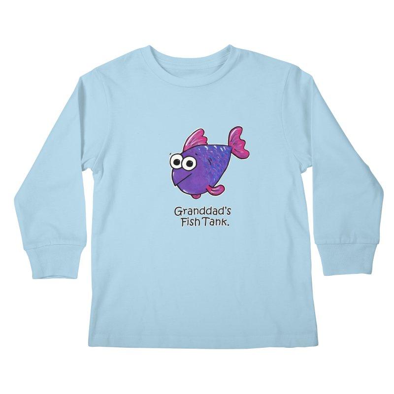 Granddad's Fish Tank - Freddy's Friend Kids Longsleeve T-Shirt by The Art of Adz