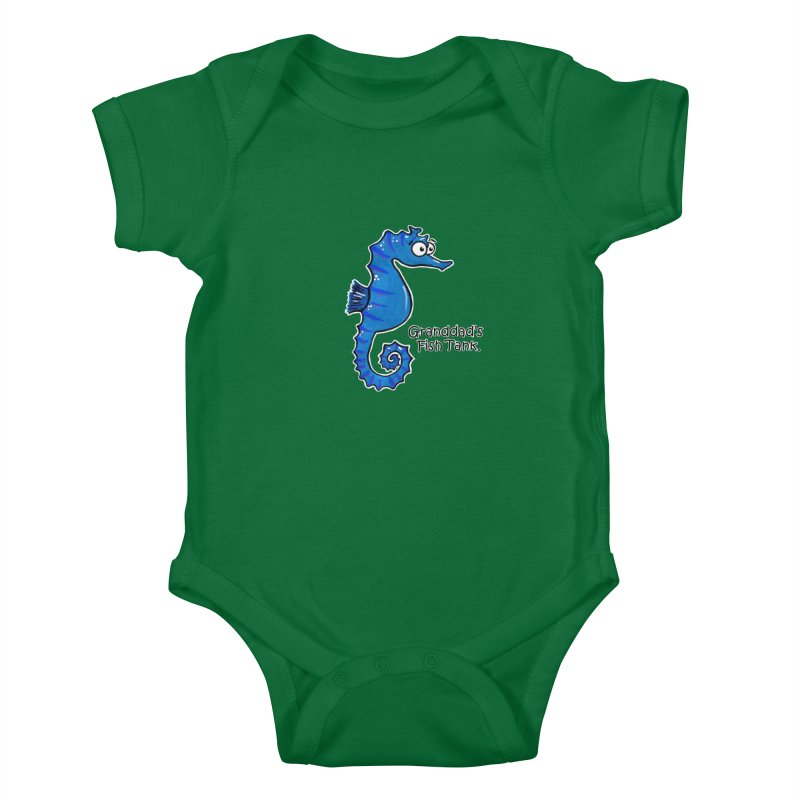 Granddad's Fish Tank - Seymour The Seahorse Kids Baby Bodysuit by The Art of Adz