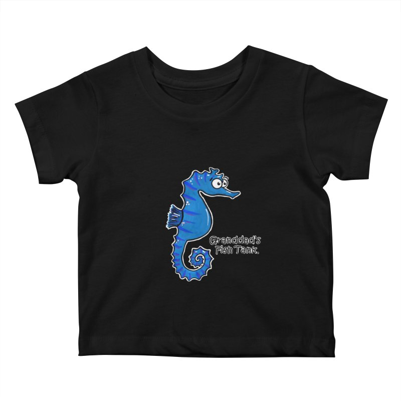 Granddad's Fish Tank - Seymour The Seahorse Kids Baby T-Shirt by The Art of Adz