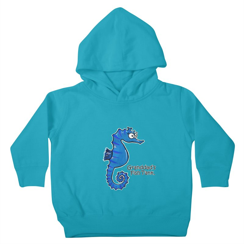 Granddad's Fish Tank - Seymour The Seahorse Kids Toddler Pullover Hoody by The Art of Adz