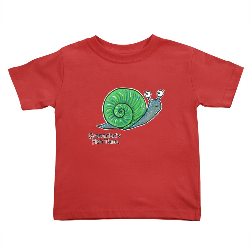 Granddad's Fish Tank - Sammy The Snail Kids Toddler T-Shirt by The Art of Adz
