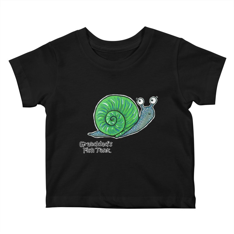 Granddad's Fish Tank - Sammy The Snail Kids Baby T-Shirt by The Art of Adz