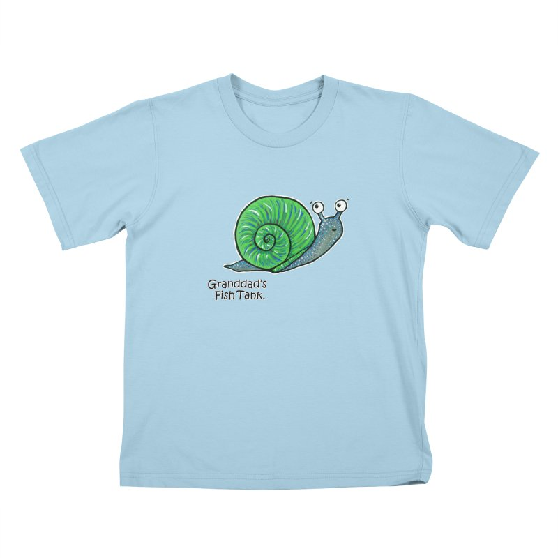 Granddad's Fish Tank - Sammy The Snail Kids T-shirt by The Art of Adz
