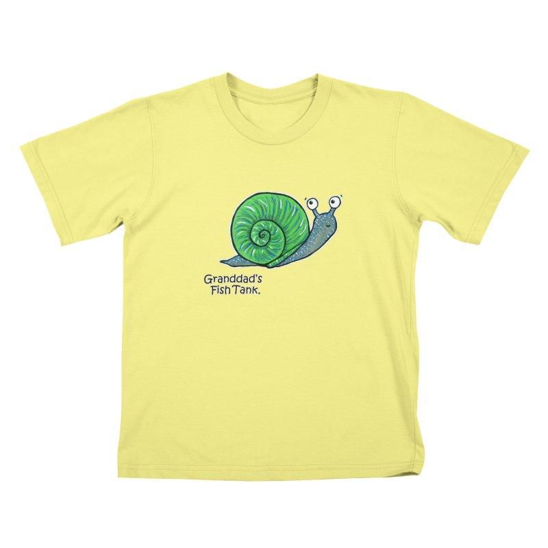 Granddad's Fish Tank - Sammy The Snail Kids T-shirt by The Art of Adz
