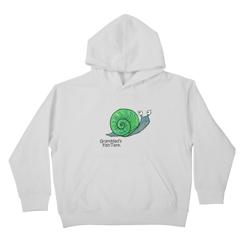 Granddad's Fish Tank - Sammy The Snail Kids Pullover Hoody by The Art of Adz