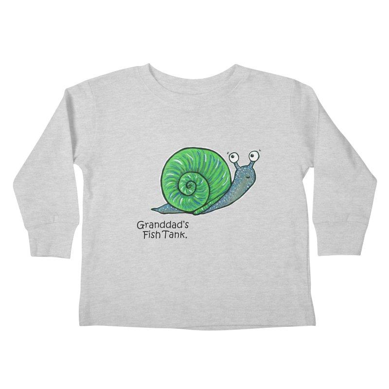 Granddad's Fish Tank - Sammy The Snail Kids Toddler Longsleeve T-Shirt by The Art of Adz