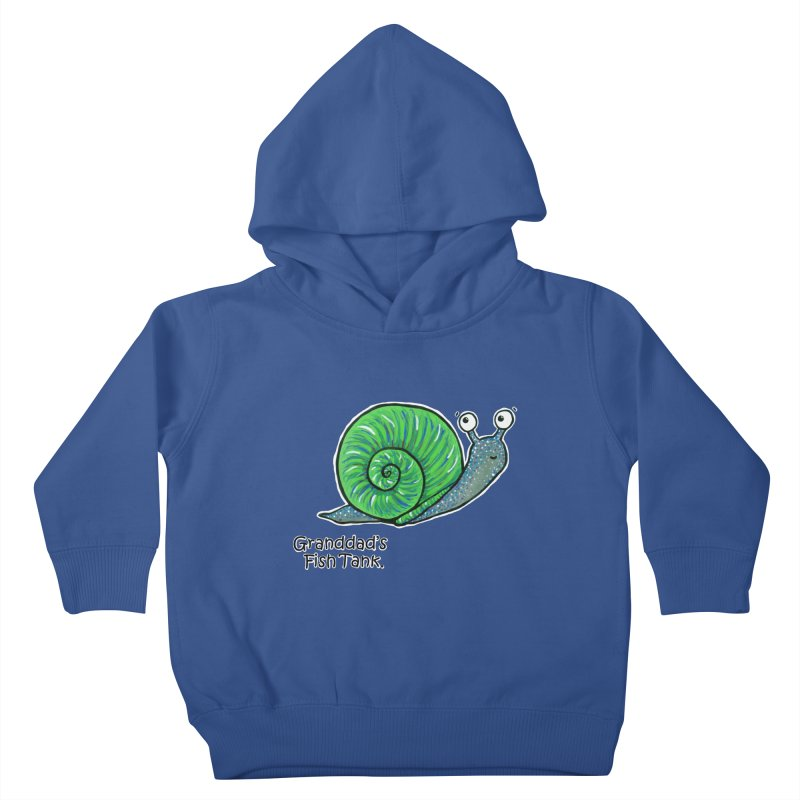 Granddad's Fish Tank - Sammy The Snail Kids Toddler Pullover Hoody by The Art of Adz