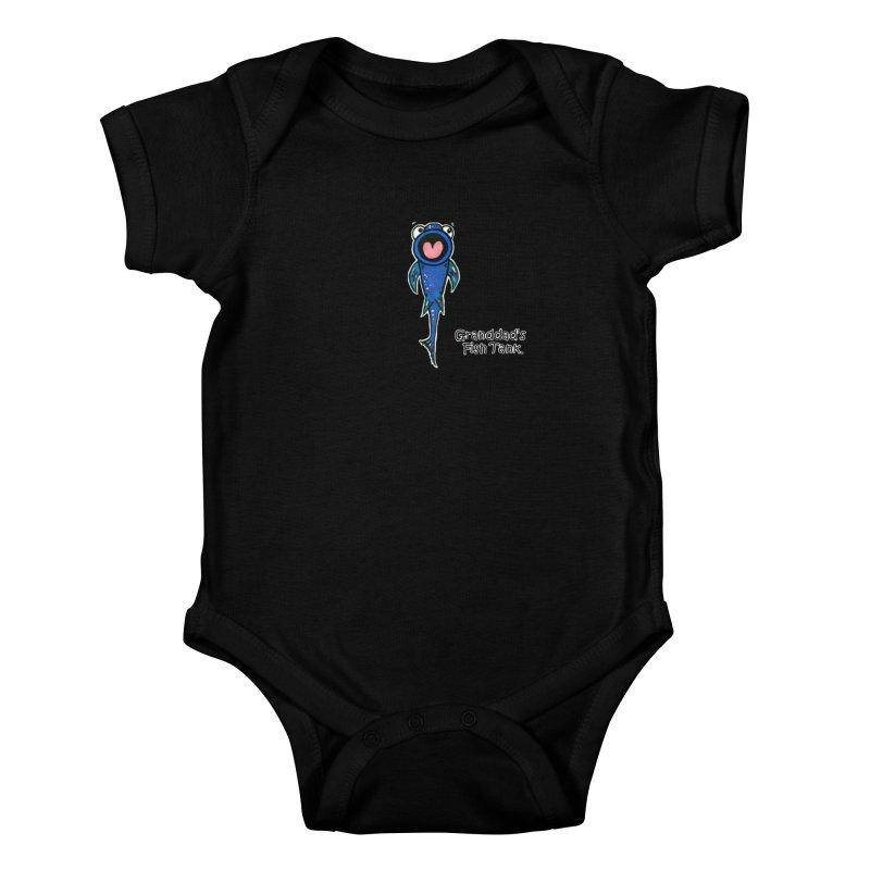 Granddad's Fish Tank - The Sucker Fish Kids Baby Bodysuit by The Art of Adz