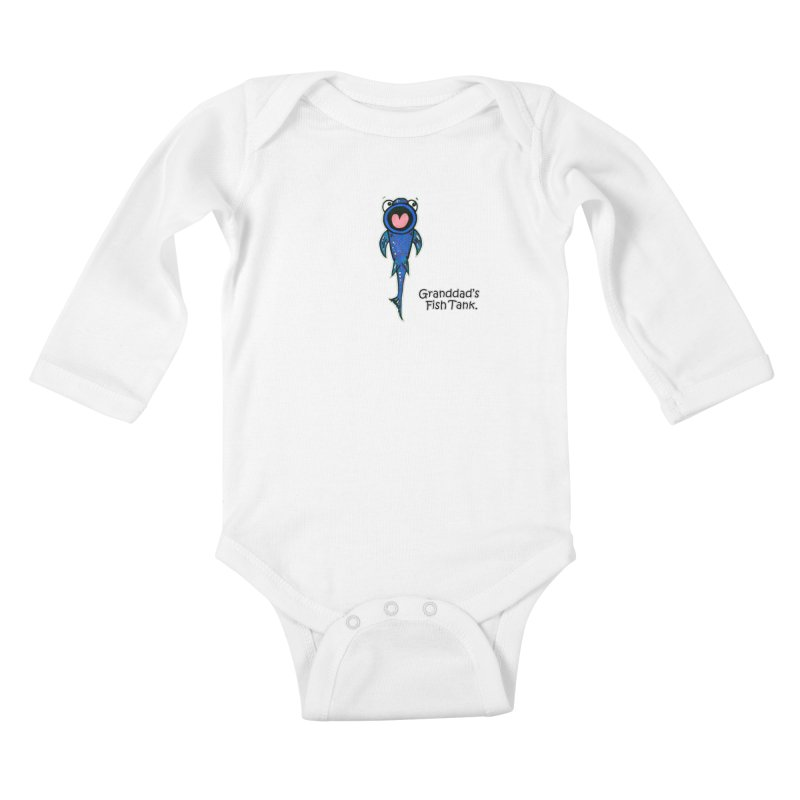 Granddad's Fish Tank - The Sucker Fish Kids Baby Longsleeve Bodysuit by The Art of Adz