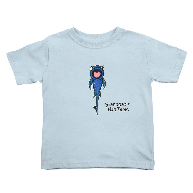Granddad's Fish Tank - The Sucker Fish Kids Toddler T-Shirt by The Art of Adz