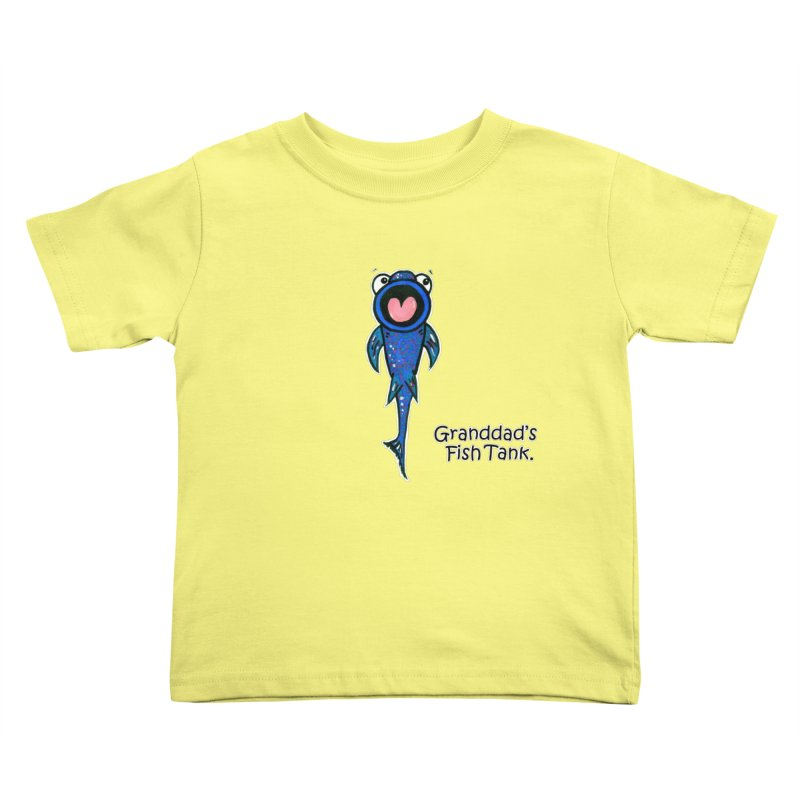 Granddad's Fish Tank - The Sucker Fish Kids Toddler T-Shirt by The Art of Adz