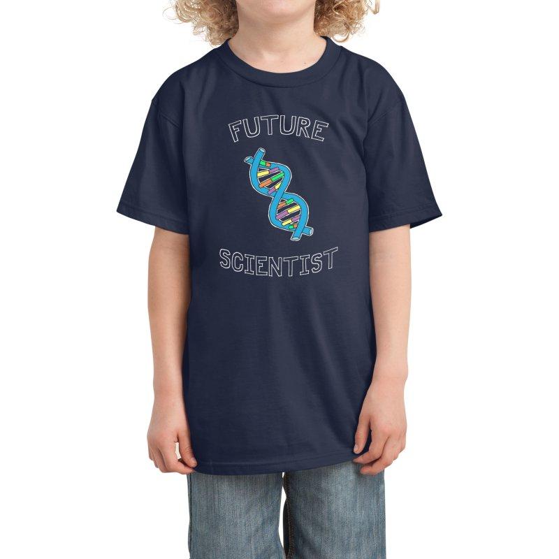 Future Scientist (for dark fabric) Kids T-Shirt by Adrienne Body