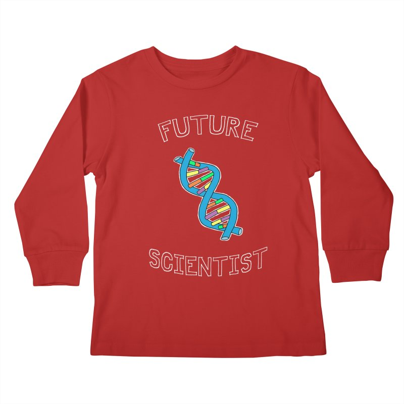 For Science - Future Scientist Kids Longsleeve T-Shirt by The Art of Adz
