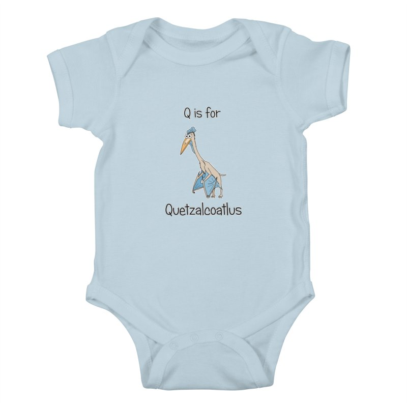 S is for Science - Quetzalcoatlus Kids Baby Bodysuit by The Art of Adz