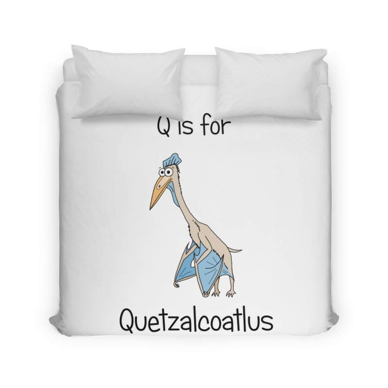 S is for Science - Quetzalcoatlus Home Duvet by The Art of Adz