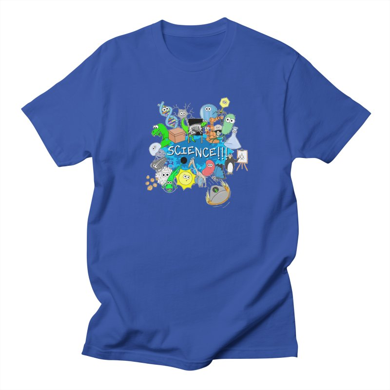 SCIENCE!!! in Men's T-shirt Royal Blue by The Art of Adz