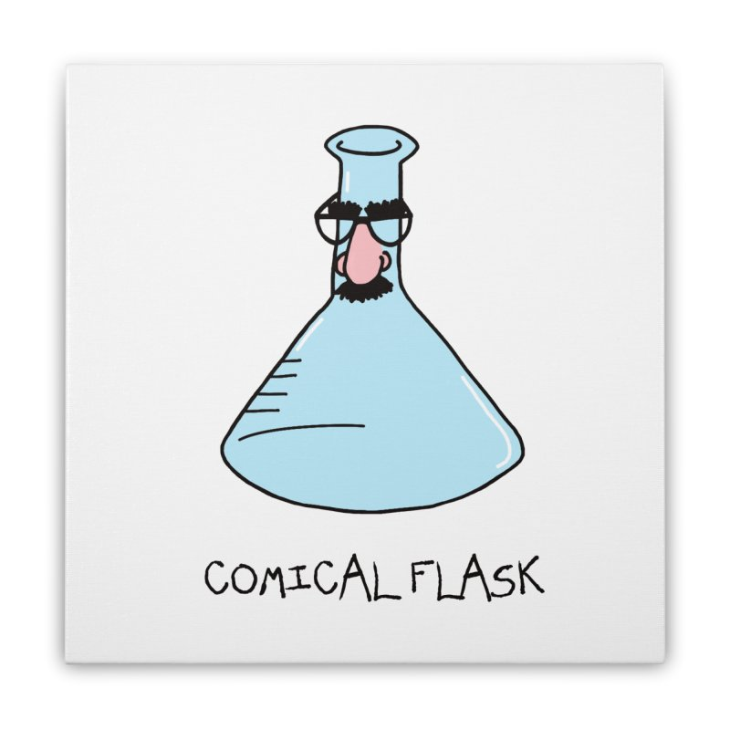 Funny Science - Comical Flask Home Stretched Canvas by Adrienne Body