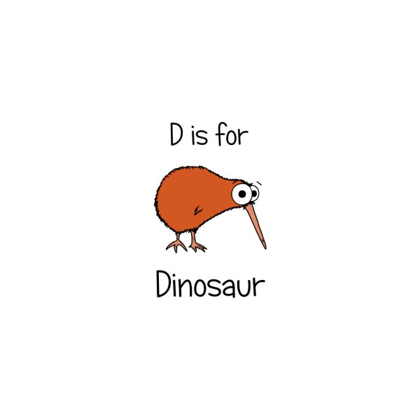 image for S is for Science - Dinosaur (kiwi)