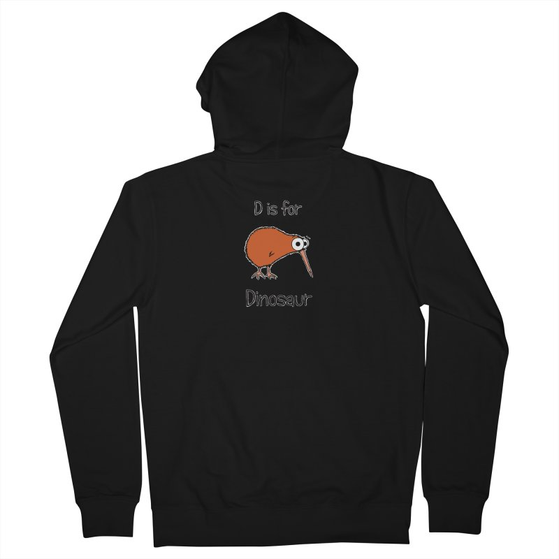 S is for Science - Dinosaur (kiwi) Women's Zip-Up Hoody by The Art of Adz