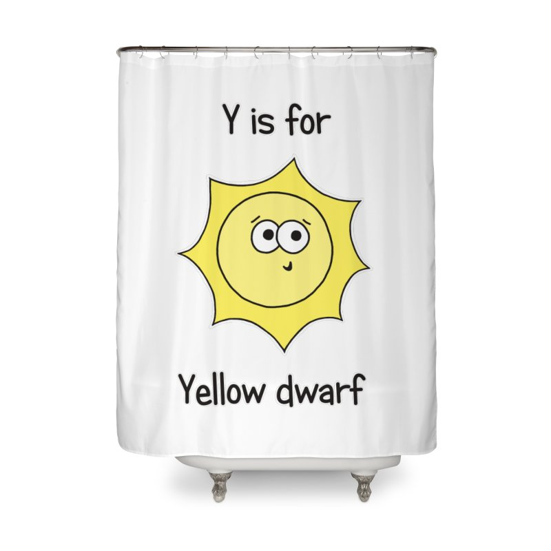 S is for Science - Yellow Dwarf Home Shower Curtain by The Art of Adz
