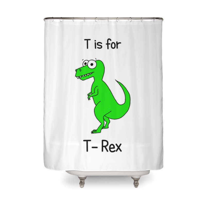 S is for Science - T-Rex Home Shower Curtain by The Art of Adz