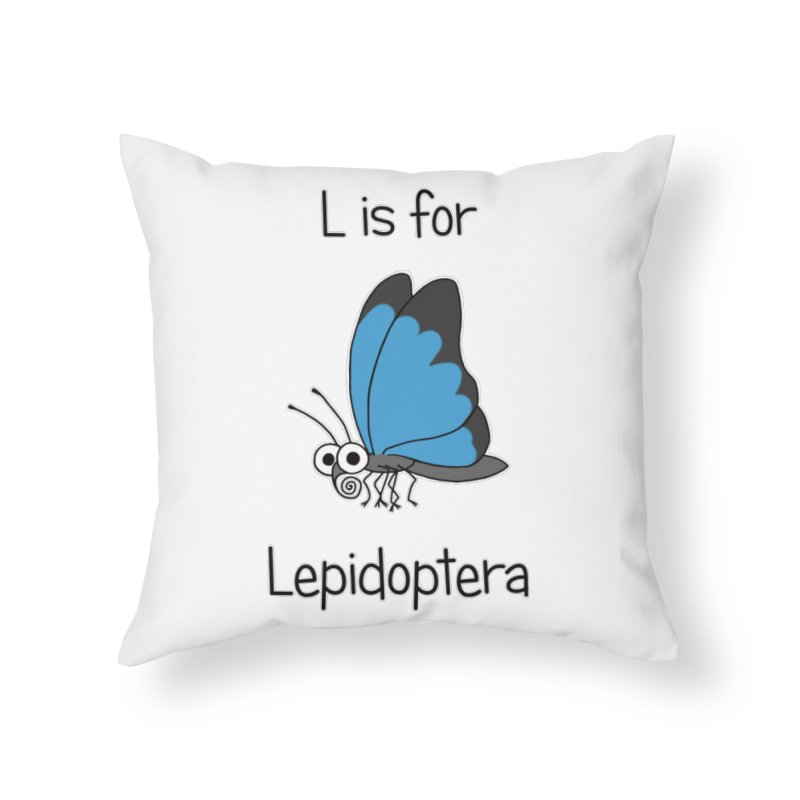 S is for Science - Lepidoptera Home Throw Pillow by The Art of Adz