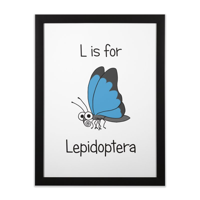 S is for Science - Lepidoptera Home Framed Fine Art Print by The Art of Adz