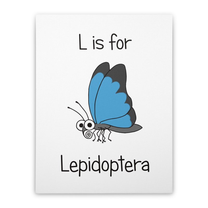 S is for Science - Lepidoptera Home Stretched Canvas by The Art of Adz