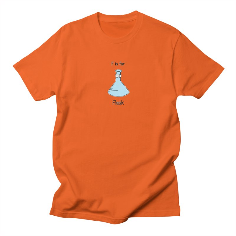 S is for Science - Flask Men's T-Shirt by The Art of Adz