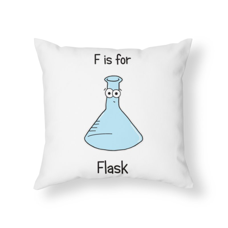 S is for Science - Flask Home Throw Pillow by The Art of Adz