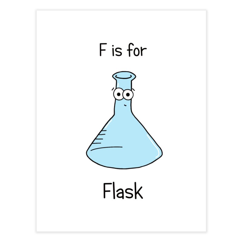 S is for Science - Flask Home Fine Art Print by The Art of Adz