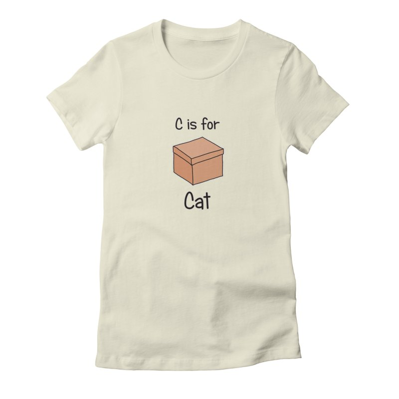 S is for Science - Cat in Women's Fitted T-Shirt Natural by The Art of Adz