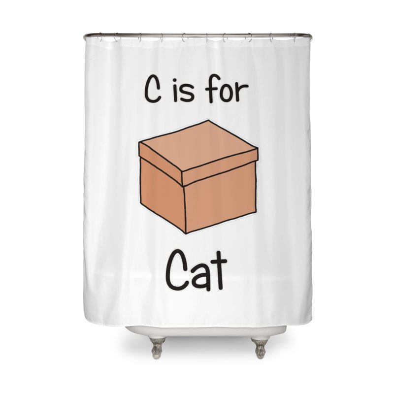 S is for Science - Cat Home Shower Curtain by The Art of Adz