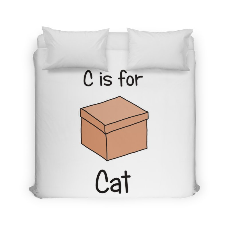 S is for Science - Cat Home Duvet by The Art of Adz