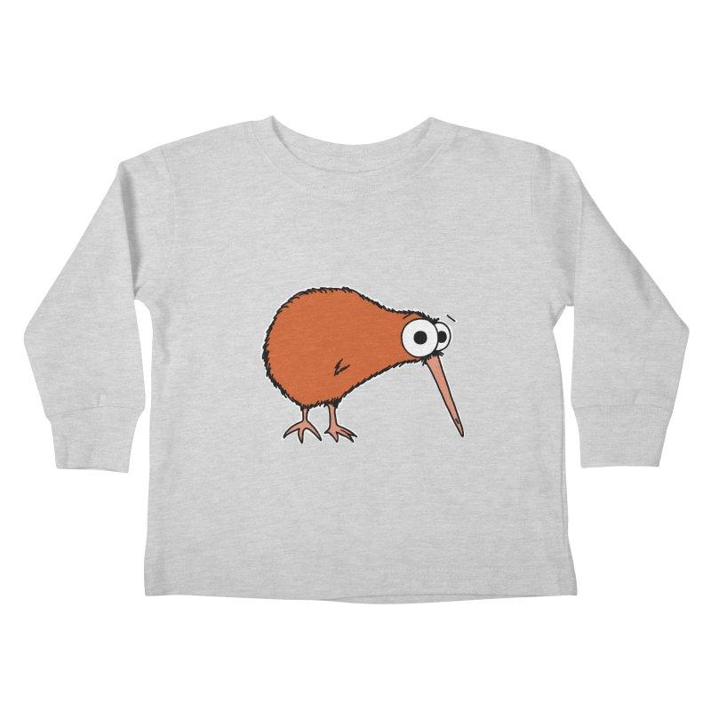 It's A Kiwi Kids Toddler Longsleeve T-Shirt by The Art of Adz