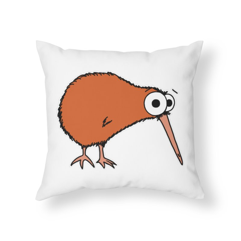 It's A Kiwi Home Throw Pillow by The Art of Adz