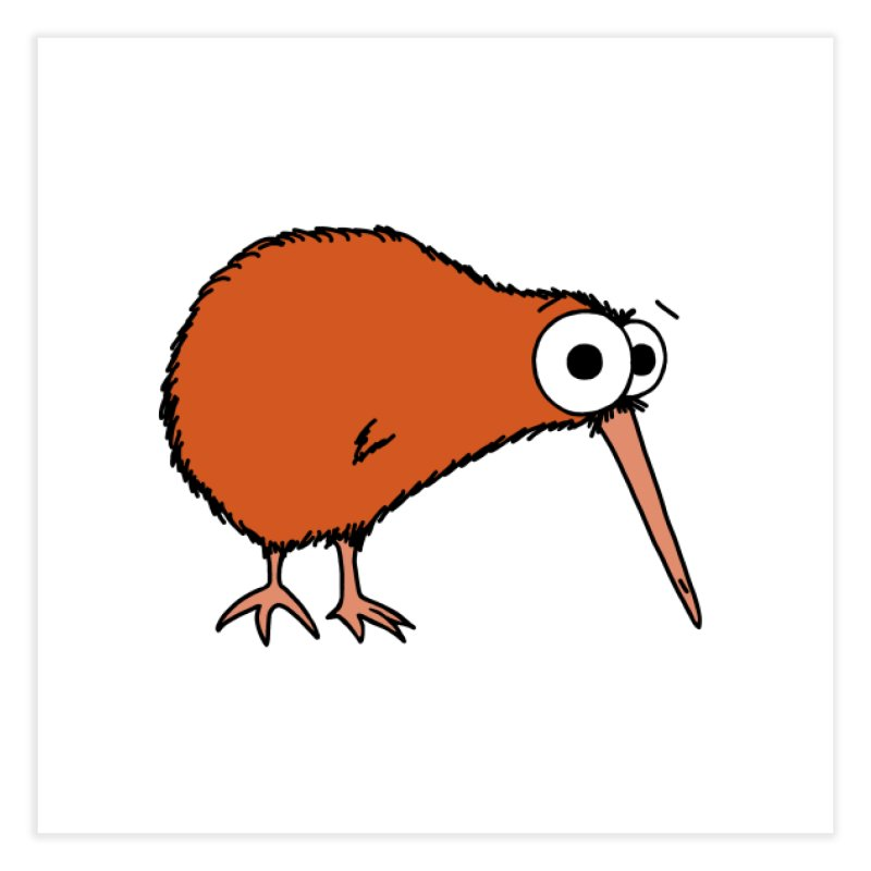 It's A Kiwi Home Fine Art Print by The Art of Adz
